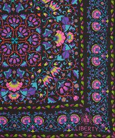 Liberty London Black Lodden Print Silk Scarf   Silk Scarves by Liberty London   Liberty.co.uk