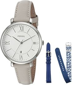 Fossil Womens ES4020SET Jacqueline Date Leather Box Set *** Continue to the product at the image link. Note: It's an affiliate link to Amazon
