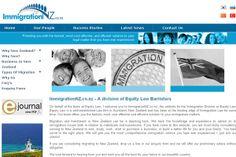 Web design for Immigration NZ