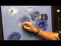 Flower Painting ,#1| Mixed media,Acrylic painting for beginners, #clive5art - YouTube
