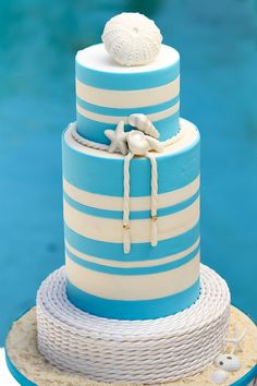 Nautical Stripes Cake