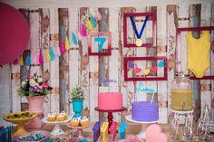 Festa Ginastas | Macetes de Mãe Happy Birthday, Up, Nova, Gymnastics Party, Candy Table, Decorative Objects, Creativity, Colors, 9 Year Olds