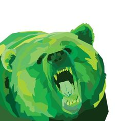 """""""A WPAP of a bear because Baylor is great and I needed to work on my school summer art assignment."""""""