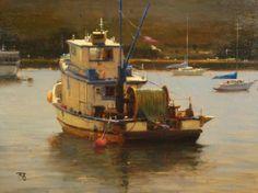 Squid Boat Monterey by Brian Blood