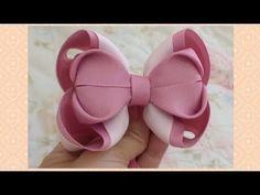 Ribbon Hair Bows, Diy Hair Bows, Diy Bow, Diy Ribbon, Ribbon Crafts, Diy Crafts, Bow Tutorial, Making Hair Bows, Disney Ears