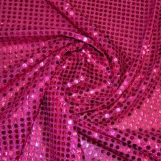 Cerise Round Sequin  115cm wide Polyester Knit None Fraying  £3.29 per metre  Whether you are creating dancewear, an ice skating costume or a fancy dress costume our stylish and glitzy Showtime Fabrics are the perfect choice. #dressmaking