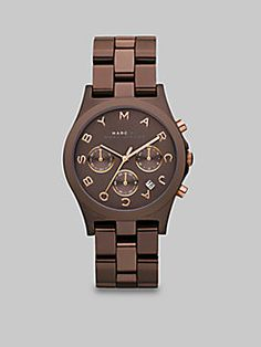 Marc by Marc Jacobs  Chronograph Watch/Brown Ion-Plated