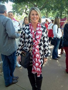 Best Outfit Nominee-such a cute GameDay outfit! Sec Football, Alabama Football, Sweet Home Alabama, Roll Tide, Red White Blue, Ua, Tennessee, What To Wear, Cool Outfits