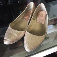 Sparkly pointed flats 9.5 Faded Glory size 9.5 sparkly flats with pointed toe. These are STUNNING and complement ANY outfit. The insides are a little dirty and could use a good cleaning but over all they have TONS of life left in them. Faded Glory Shoes Flats & Loafers