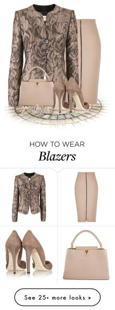 """Armani"" by flowerchild805 on Polyvore featuring River Island, Armani Collezioni, Louis Vuitton and Jimmy Choo"