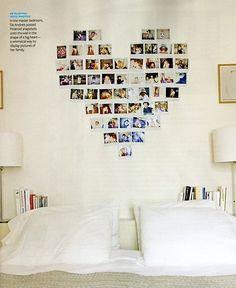 your photos instead of headboard..hmm nice idea