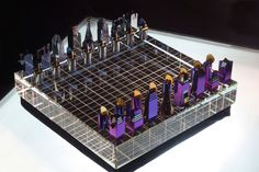 """""""The unique chess set made of a natural material: rare-earth metal zirconium and optical glass."""""""