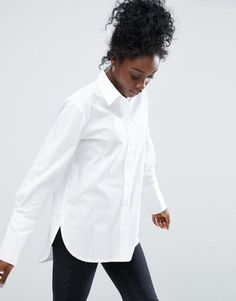ASOS | ASOS Boyfriend Shirt with Deep Cuff & Button Side