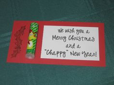"CONTROLLING Craziness:  easy/simple gift  ""Chappy"" New Year"