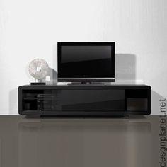 meuble tv 2 tiroirs 1 niche longueur 160 x hauteur 38cm mdf blanc gecko port offert vente prive dco meubles tv pinterest - Meuble Tv Blanc Glossy