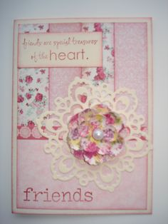Pretty in pink - gotta love this little lacy doily cutting template too.