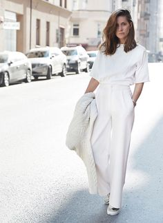 @roressclothes closet ideas #women fashion outfit #clothing style apparel Great All-white Style