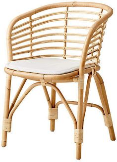 Blend Armchair, Natural/White Sunbrella - Arm Chairs - Dining Chairs - Dining Room - Furniture One Kings Lane Beach House Furniture, French Furniture, Beach House Decor, Home Furniture, Home Decor, Garden Furniture, Office Furniture, Old House Decorating, Small Beach Houses
