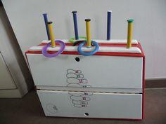 bewegingskoffer voorkant spel: werpen