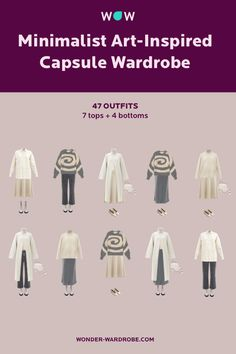 When you want to create an outfit, where do you draw inspiration from? I often turn to the world of art. I try to put together capsules that go beyond simple fashion matching. As you'll see here there are plenty of outfit ideas