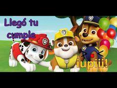 FELIZ CUMPLEAÑOS PATRULLA CANINA - canción tradicional para dedicar niños Paw Patrol - YouTube