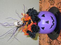 Halloween at the office (dollar tree items)