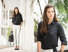 Camisa de seda preta (dia) - Inverno 2013