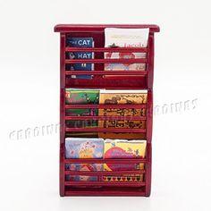 Odoria 1:12 Miniature Winered Magazine Rack