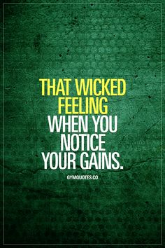 That wicked feeling when you notice your gains. Best feeling in the world. Period. #gains #gymaddict #fitfam #gymquotes #gymmotivation #fitnessmotivation www.gymquotes.co