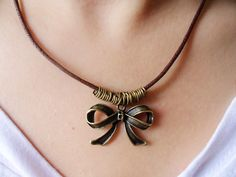 Jewelry leather necklace women necklace by jewelrybraceletcuff, $6.50