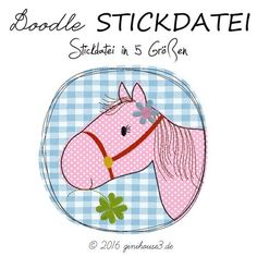 Doodle STICKDATEI Pferd
