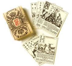 18th-century playing cards feature Aesop's Fables.