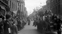 Second World War ends - celebrations 8th of May 1945 Oslo, Norway