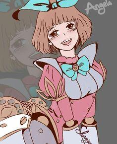Angela (I like Angela because, she's cute! Even dhe's a doll) :) Mobiles, Moba Legends, Ninga Turtles, Bunny Love, Mobile Legend Wallpaper, The Legend Of Heroes, Hanabi, Anime Neko, League Of Legends
