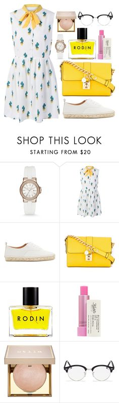 """Untitled #435"" by ngkhhuynstyle ❤ liked on Polyvore featuring Michael Kors, Flamingos, Dolce&Gabbana, Rodin, Kiehl's, Stila and Ray-Ban"