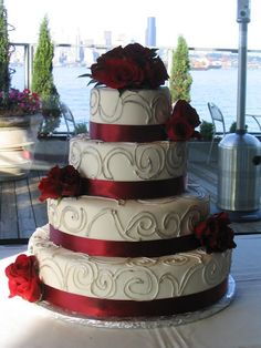 i like this cake as my wedding cake. the topper has to replace roses on top though - by previous pinner