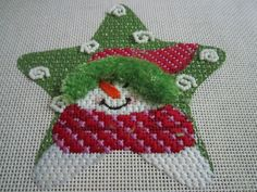 Maggie star snowman ornament  ~ Love the stitch selection !