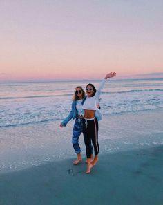 beach w frands :) Foto Best Friend, Best Friend Fotos, Cute Beach Pictures, Cute Friend Pictures, Beach Pics, Photos Bff, Cute Photos, Bff Pics, Cute Friends