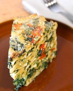 Pasta Cake recipe...Layers of pasta join vegetables and cheese in a fresh take on lasagna