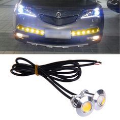 1 Pair DC 12V 23mm Eagle Eye LED Daytime Running DRL Light Car Auto Lamp Yellow New Arrival