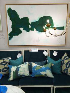 Perfect combo #americasmartATL Green Art, Go Green, Green Palette, Home Accessories, Tapestry, Blanket, Interior Design, Artist, Artwork