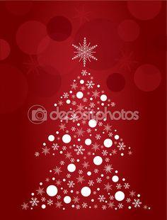 Christmas tree design art vector — Image vectorielle Juliedeshaies © #57495725