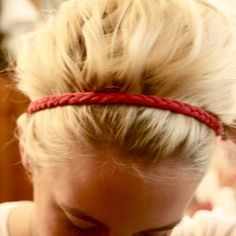 Homemade Headband made out of an old t shirt.