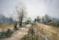 Misha Kuznetsov, Road to Village on ArtStack #misha-kuznetsov #art