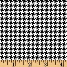 Michael Miller Tiny Houndstooth Black from @fabricdotcom  Designed for Michael Miller Fabrics, colors include black and white. Use for quilting and craft projects.
