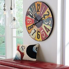 License Plates Clock by GrandinRoad.com