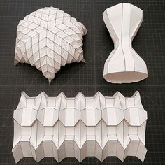 Untitled | Mike Tanis | Flickr Origami Lamp, Origami And Kirigami, Origami Paper Art, Origami Butterfly, Origami Flowers, Paper Crafts, Folding Architecture, Paper Structure, Origami Patterns