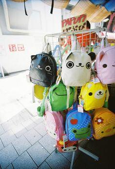 So cute! Kawaii Bags, Kawaii Clothes, Kawaii Cute, Kawaii Style, Animal Backpacks, Cute Backpacks, Kawaii Fashion, Cute Fashion, Mode Lolita
