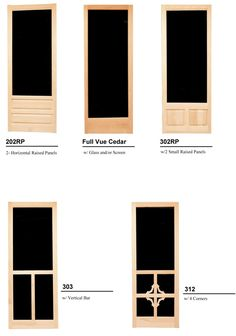 The Latest Addition Of Doors To The Paul Argoe Wood Screen Door Collection.