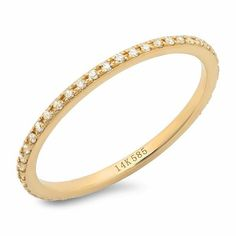 Classic Micro Eternity Band | Sachi Jewelry